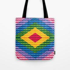 Rainbow Geometry Tote Bag