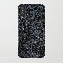 Northern Hemisphere Constellations White Blue iPhone Case