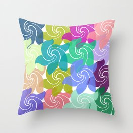 Spring Time Spinners Throw Pillow