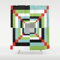 illusion Shower Curtains featuring Illusion by Susana Paz