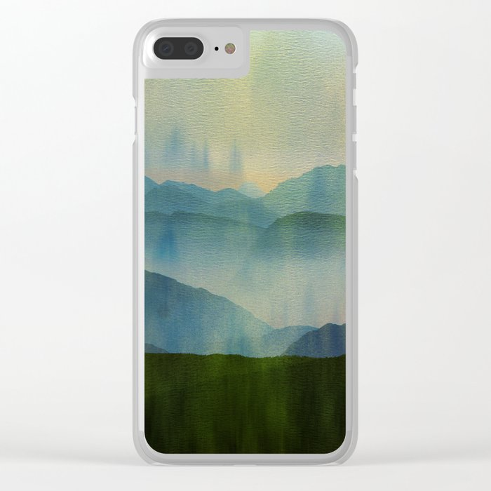 Pine Forest Clear iPhone Case