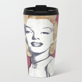 Marilyn Monroe Paper Art Print Metal Travel Mug