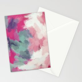 red pink and green painting texture abstract background Stationery Cards