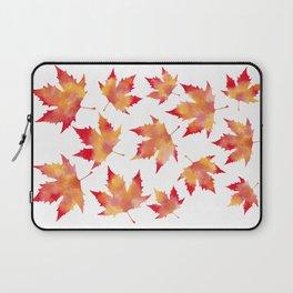 Maple leaves white Laptop Sleeve