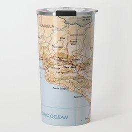 Costa Rica Map (1987) Travel Mug