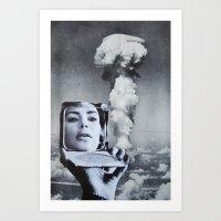 kardashian Art Prints featuring Kim Kardashian by John Turck