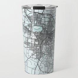 Ballarat VIC, Australia, White, City, Map Travel Mug