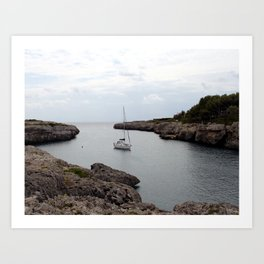 Boat on the Belearic Sea Art Print