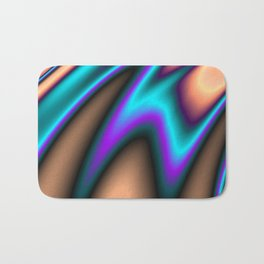 Abstract Fractal Colorways 03 Southwestern Bath Mat
