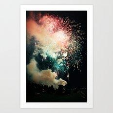 Bursts of light. Art Print