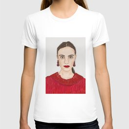 Red lip Red heart Red lady T-shirt