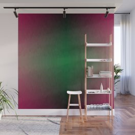 Red black Yellow Green Ombre Flames Wall Mural