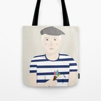 picasso Tote Bags featuring Picasso by Judy Kaufmann