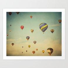 Floating in Space Art Print