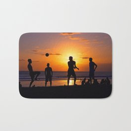 Football at Sunset. Bath Mat