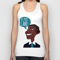 obama Tank Tops featuring OBAMA by artic