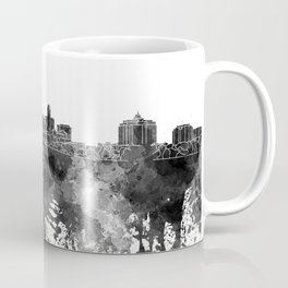 Albany skyline in black watercolor on white background Coffee Mug