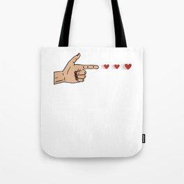 Human Handgun Heart Bullets Valentines Day Tote Bag