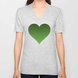 Green Ombré Gradient Unisex V-Neck