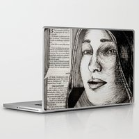 bianca green Laptop & iPad Skins featuring Bianca Davri by Anca Chelaru
