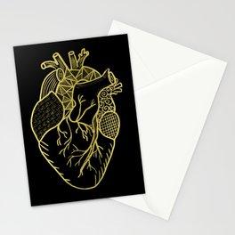 Designer Heart Gold Stationery Cards