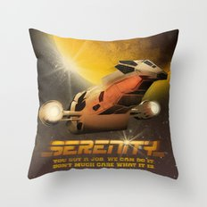 Now Boarding: Serenity Throw Pillow
