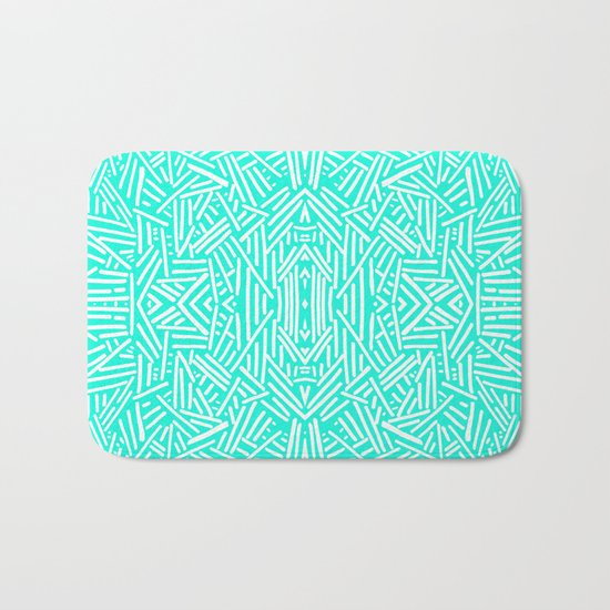 Radiate (Mint) Bath Mat