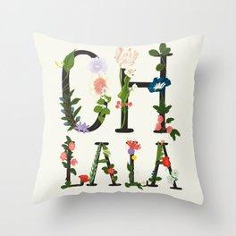 OH LA LA Throw Pillow