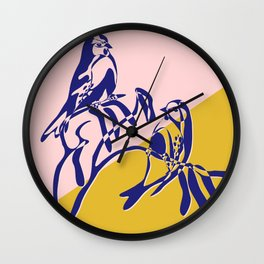 loving birds Wall Clock