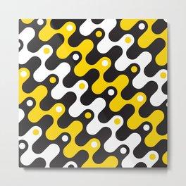 Geometric Pattern #121 (yellow waves) Metal Print