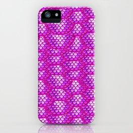 Magenta Snake Skin Pattern iPhone Case