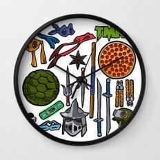 TMNT Weapons & Masks Wall Clock