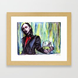 MaNsinthe, portrait of M.M. made by Ines Zgonc Framed Art Print
