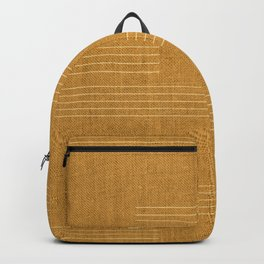 Mudcloth, Minimal, Pattern, Boho Prints, Yellow Backpack