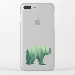 Forest Bear Clear iPhone Case