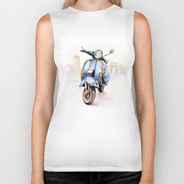 Azzurro Vespa (Motocicletalia) Biker Tank