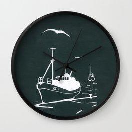 Comrades in Grey Wall Clock