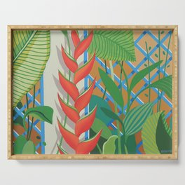 HELICONIA FLOWERS Serving Tray