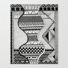Wavy Geometric Patterns Canvas Print