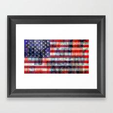 America 3 Framed Art Print