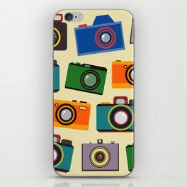 colourful retro cameras iPhone Skin
