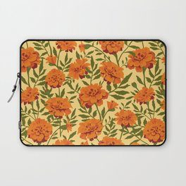 Marigold Flowers Pattern Laptop Sleeve