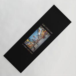 Times Square Sparkle (with type on black) Yoga Mat
