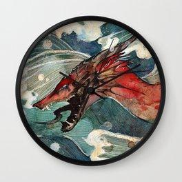 Dragon's Waves Wall Clock