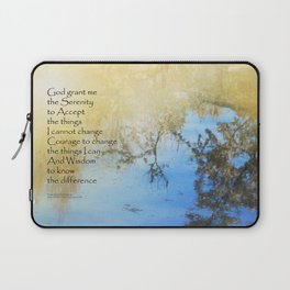 Serenity Prayer Pond Reflections Laptop Sleeve