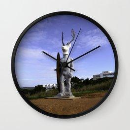 Veado Surfer Statue Standing Tall Wall Clock