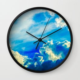 Dramatic Stormy Clouds In The Windy Sky Wall Clock