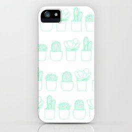 Succulents (Minty Palette) iPhone Case