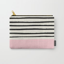Millennial Pink x Stripes Carry-All Pouch