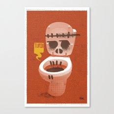 Toilet Bowl Canvas Print